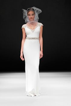 Badgley Mischka Spring 2015 Bridal Collection. wedding dress. floral. romantic. Lace back.