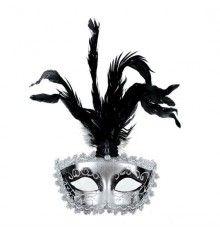 MASCARA VENECIANA ACABADO PLATA PLUMAS Halloween Face Makeup, My Style, Silver, Rococo, Continents, Sexy, Venetian Masks, Venetian, Feathers