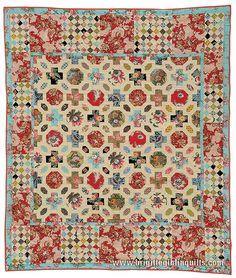 Quilts & purse patterns using hexagons, clamshell & English medallion piecing & applique Brigitte Giblin