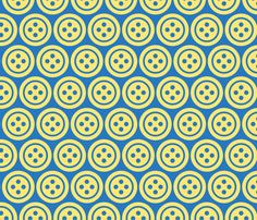 Buttons_Blue fabric by suestrobel on Spoonflower  www.spoonflower.com/profiles/suestrobel