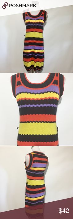 """Milly of New York Striped Cotton Dress P= 0-2  bust approximately 32.5-33.5"""". Waist approximately 24.5-25.5"""". Hip approximately 34.5-35.5"""". Like new. Needs belt. Milly of New York Dresses Midi"""