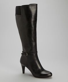 Look what I found on #zulily! Black Hadlie Leather Boot by Circa Joan & David #zulilyfinds