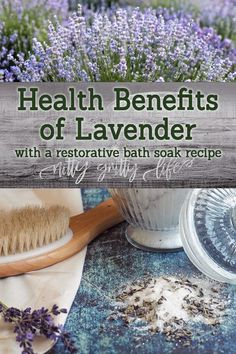 The health benefits of lavender are abundant -- from relaxing sore muscles to soothing burns. Try these restorative lavender bath salts to get a good night's rest! #herbalmedicine #lavender #bathsalts #herbs #herbalism #bath #selfcare Us Health, Herbs For Health, Health Tips, Natural Home Remedies, Herbal Remedies, Health Remedies, Holistic Remedies, Strawberry Health Benefits, Moustiers Sainte Marie