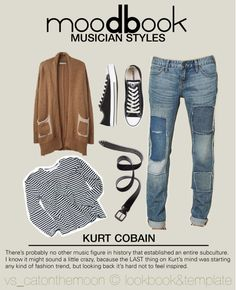 """moodbook - KURT COBAIN"" by veronica-sinetti on Polyvore"