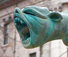 Bronze #Gargoyle, Albert Square, Manchester