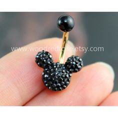 Disney Mickey Mouse Black Crystal belly button ring,Stud Bar Barbell... (17 BRL) ❤ liked on Polyvore featuring jewelry, piercings, belly ring, disney, bellyring, belly rings jewelry, disney jewellery, belly button rings jewelry and disney jewelry