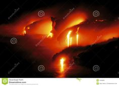 Glowing Lava Flow In Hawaii Stock Photo - Image of extremely, awesome: 1948660 Hawaii Volcano, Lava Flow, Volcanoes, Earth, Island, Stock Photos, Awesome, Image, Volcano