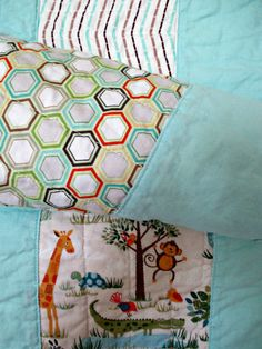 Jungle Quilt for Crib.  Toddler size quilt. by NurseriesbyMimi, $150.00