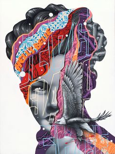 New paintings by uber talented American street artist Tristan Eaton. in Tristan Eaton started pursuing street art as a teenager, painting… Murals Street Art, Street Art Graffiti, New Media Art, Mixed Media Artwork, Art And Illustration, Pop Illustrations, Urbane Kunst, Graffiti Artwork, Photocollage