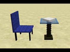 Chair & Dining Table in Minecraft Minecraft Videos, Dining Table, Furniture, Home Decor, Chair, Decoration Home, Room Decor, Dinner Table, Home Furnishings