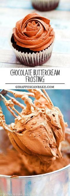 Chocolate Buttercream Frosting - is smooth, light and fluffy and has the perfect chocolate touch that is so easy to make! #frosting #dessert