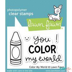 Sello transparente Color my world - Lawn fawn