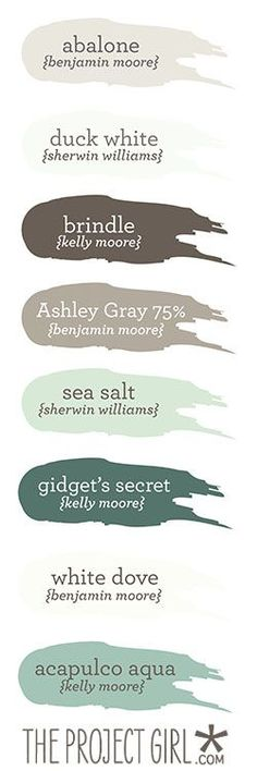 Coastal-themed paint colors | Jenallyson - The Project Girl - Fun Easy Craft Projects including Home Improvement and Decorating - For Women and Moms