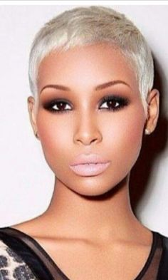 Brown skin platinum blonde
