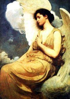 Abbott Handerson Thayer  American, 1849 - 1921  Winged Figure    Date: 1889