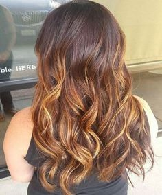 Curly hairstyles copper shade very beautiful round curls 2017