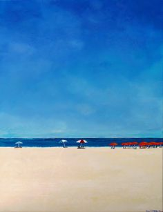 "Beach Please by Bryan Dubreuiel Acrylic ~ 36"" x 24"""