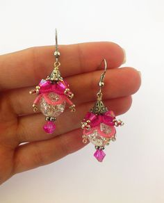 Ombre Two Color Blend Earrings Lace Earrings di LaceLounge