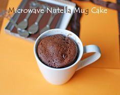 2 minutes Nutella Microwave Mug Cake-need to try! Köstliche Desserts, Delicious Desserts, Mug Cake Rezept, Nutella Mug Cake, Mug Cake Microwave, Polish Recipes, Polish Food, Savoury Cake, Clean Eating Snacks