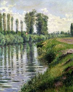 Small Branch of the Seine at Argenteuil, by Gustave Caillebotte
