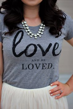 love tee with tulle skirt