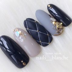 Ideas For Gel Manicure Designs Classy Nails Shape Matte Nails, Blue Nails, My Nails, Gel Manicure Designs, Nail Art Designs, Fabulous Nails, Perfect Nails, Water Nail Art, Asian Nails