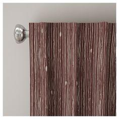 "Unlined Shibori Stripe Curtain Panel Berry (Pink) (50""x96"")"