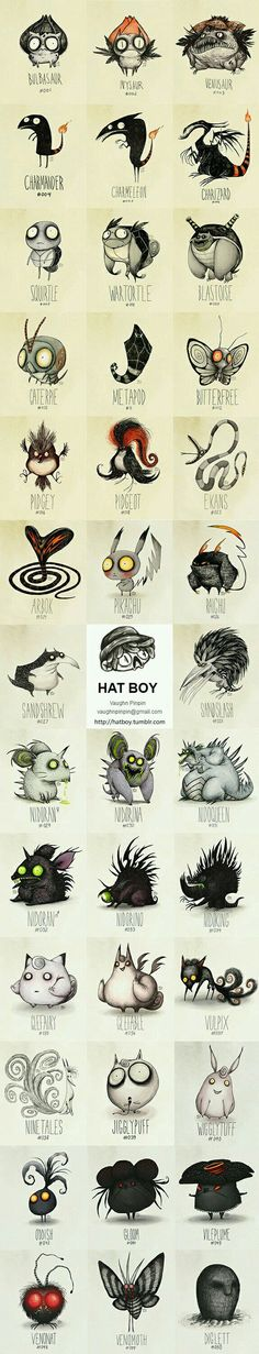Tim Burton Pokemon (Vaughn Pinpin) - 9GAG... by far the BEST pin I have EVER come across.