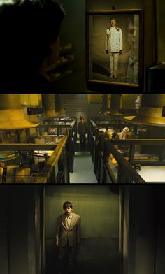 amazing cinematography: The Double (2013) Directed by:Richard Ayoade...