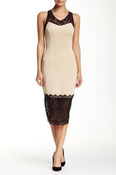 Romantic Lace Scuba Sheath Dress by Alexia Admor on @nordstrom_rack