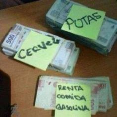 Separando el aguinaldo!!!!! Money Pictures, Learning Spanish, Memes, I Laughed, Budgeting, Lol, Reading, Funny, Bing Images