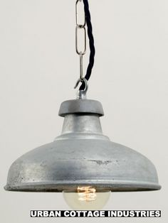 Galvanised shade   Metal light shade   Factorylux