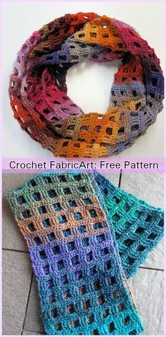 Crochet Windowpane Scarf Free Pattern