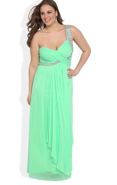 Curvy Fashionista Evening Dresses Plus Size Long Prom Dress with