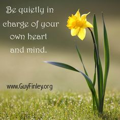 Be quietly in charge...
