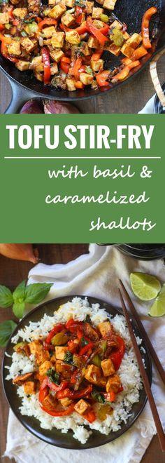 Tofu, Basil & Caramelized Shallot Stir-Fry