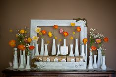 seriously this blog is like my wedding in baby shower form....right down to the milk glass vases, burlap runners, and twig bird cages...and the best part is, I designed it MYSELF! ...yup, I could totally make it as an event planner.