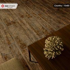 Country serisi, ahşap dokusu ve doğal görünümü ile modern ve şık mekanlar yaratıyor.