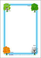 Seasons page borders (SB894) - SparkleBox