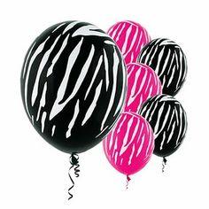 Zebra Print Party Supplies & Decoration Ideas