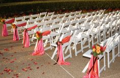 Ceremony chairs with a touch of color