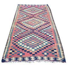 Vintage Allegra Turkish Kilim Rug #huntersalley