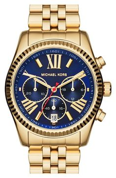 MICHAEL Michael Kors Michael Kors 'Lexington' Chronograph Bracelet Watch, 38mm available at #Nordstrom