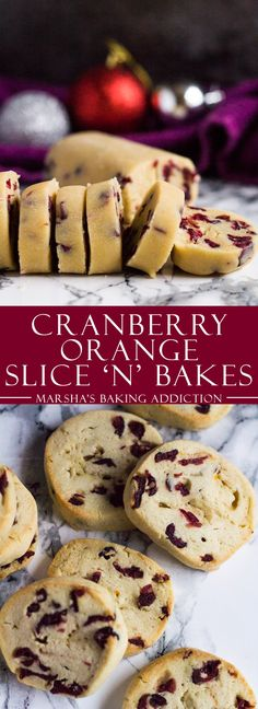 Cranberry Orange Slice 'n' Bake Cookies | marshasbakingaddiction.com @marshasbakeblog