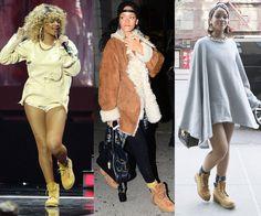 Tres #looks de la cantante Rihanna... ¡y en todos el mismo complemento! La botas Timberland son muy habituales en sus #outfits. Encuentra tu modelo favorito en nuestra #zapatería online: http://calzadorodriguez.com/