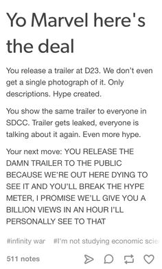 Plus we can just watch the leaked version, so we're getting it either way.