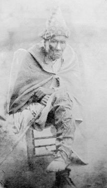A purported photo of Chief Junaluska - distinguished Cherokee warrior ... credited for saving Andrew Jackson's life at Horseshoe Bend, Ala ... President Jackson called for removal of Cherokee ... Junaluska survived the Trail of Tears ... walked home to N.C.