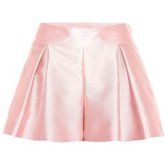 REDValentino Plissee Shorts ($360) ❤ liked on Polyvore featuring shorts, pink, pink shorts and red valentino