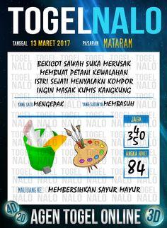 Nomer 2D Togel Wap Online TogelNalo Mataram 13 Maret 2017