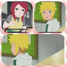 Minato, Kushina, young, childhood, funny, text, quote, comic, Naruto; Photo Collages